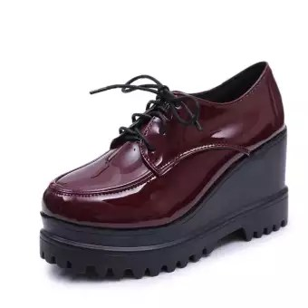 Slip On Leather Shoes Womens