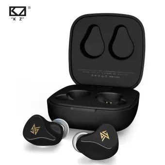 KZ Z1 TWS True Wireless Bluetooth v5.0  Dual magnetic Dynamic Touch Control Noise Cancelling Sport   Game Earbuds -Black