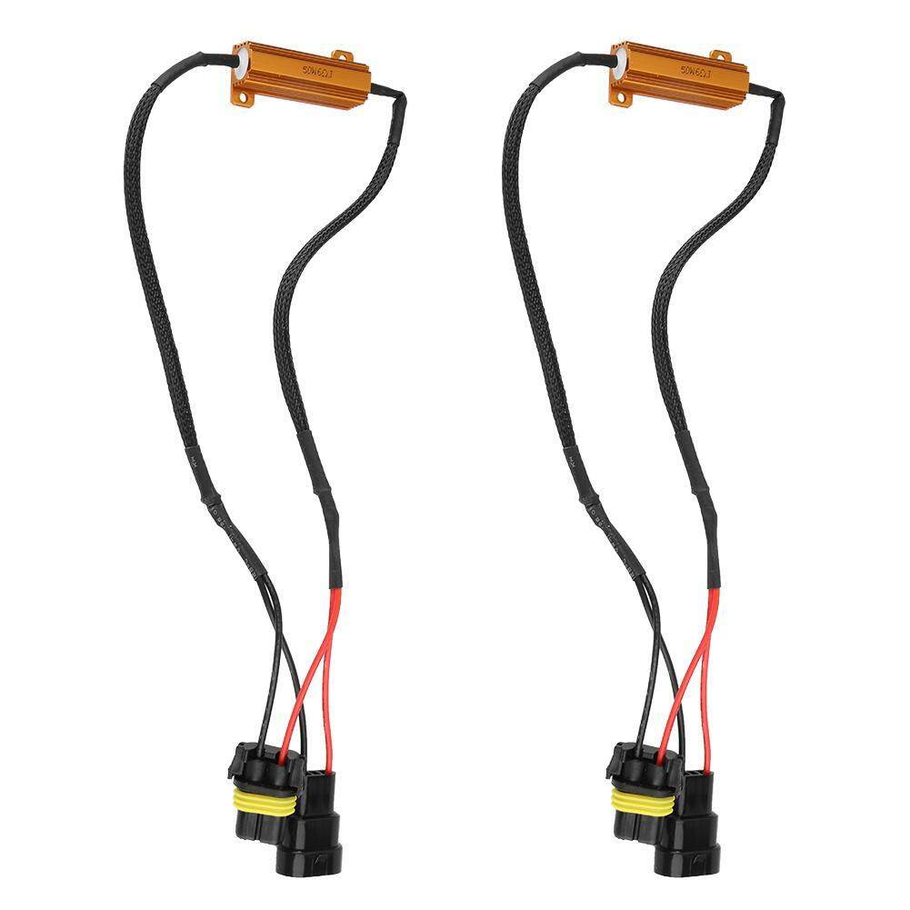 hight resolution of dual resistor decoder anti flicker relay wiring harness flash warning canceler for 9005 6hid
