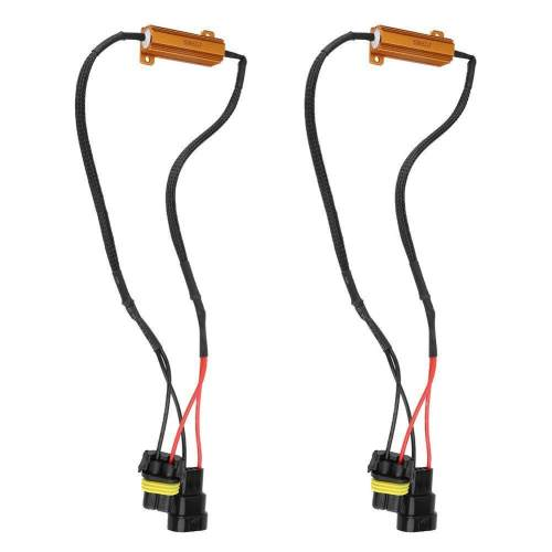 small resolution of dual resistor decoder anti flicker relay wiring harness flash warning canceler for 9005 6hid