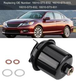 product details of auto engine fuel filter replacement for honda civic accord acura integra 16010 st5 931 [ 1001 x 1001 Pixel ]