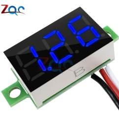 product details of 0 36 inch 0 36 dc 0 30v super mini led digital car voltmeter voltage volt panel meter battery monitor 3 digital 3 wires colors [ 1000 x 1000 Pixel ]