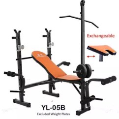 Gym Bench Press Chair Table With Storage Sellincost Foldable Sit Up Dumbbell Squat Rack Weight Lifting Lat Pull Down