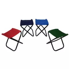 Fishing Chair Setup Disposable Folding Covers Mini Portable Armless Stool Beach Camping Picnic 2 Unit Assorted Color Lazada