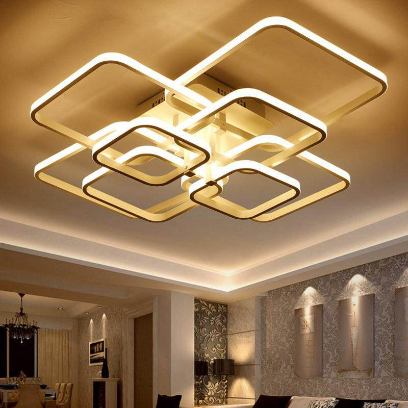 led ceiling light living room wallpaper ideas lights for sale chandelier prices brands review touch remote dimming modern plafon lamp fixture aluminum dining bedroom