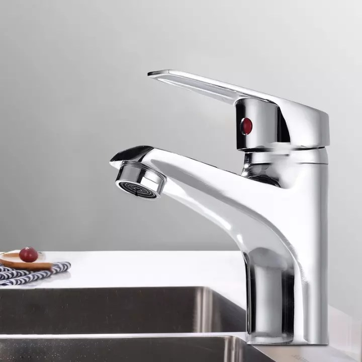 home outdoor single hole hot and cold water faucet modern bathroom taps basin mono sink mixer single lever chrome cloakroom tap bathroom taps single