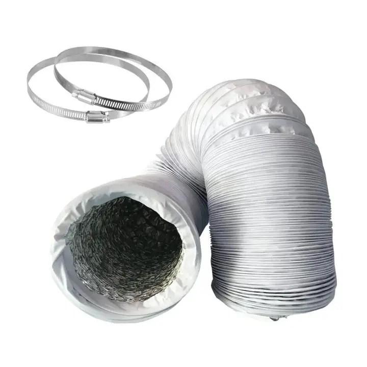 sealavender non insulated flex air aluminum ducting dryer vent hose for hvac ventilation telescopic hose pvc composite aluminum foil exhaust pipe air