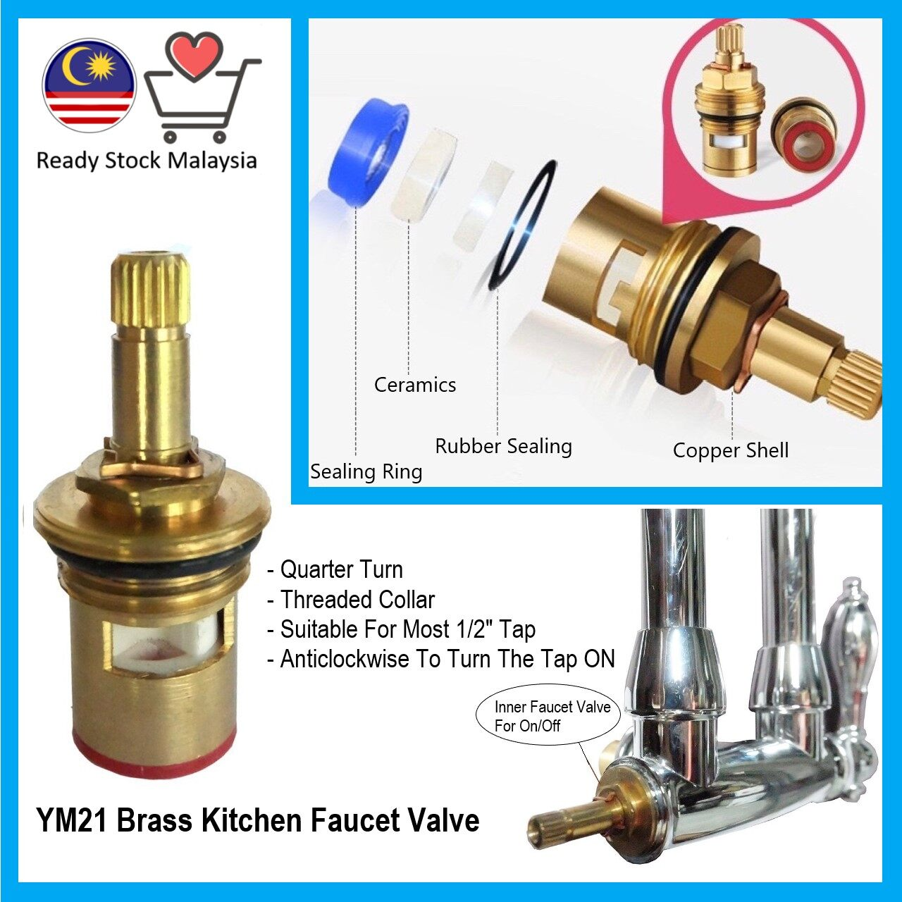 ready stock kitchen sink faucet tap valve suitable for most 1 2 inch tap faucet