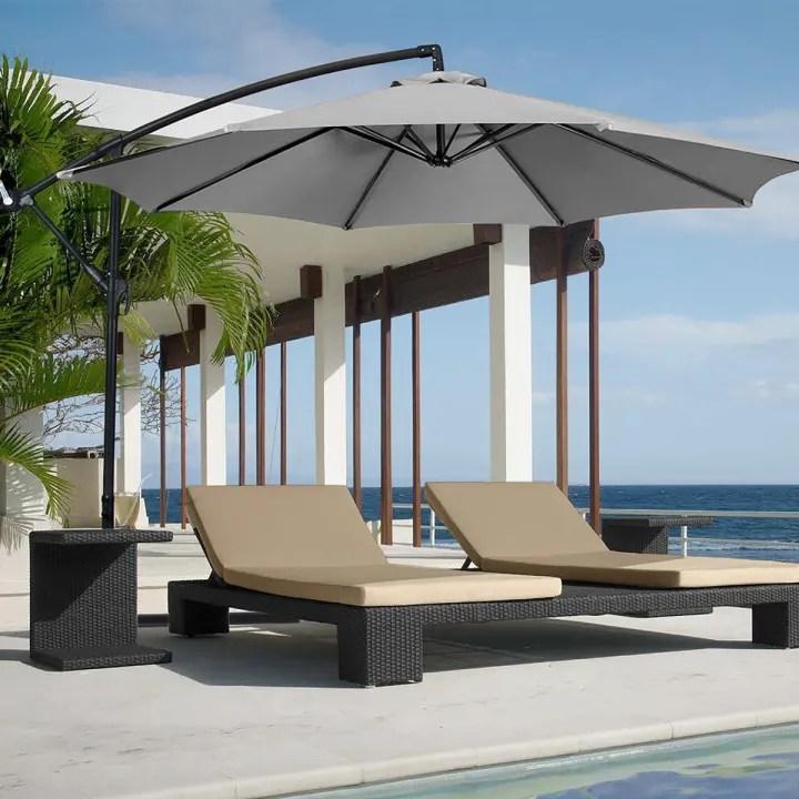 waterproof patio umbrella canopy cover outdoor sunshade anti uv umbrella cloth grey without umbrella stand