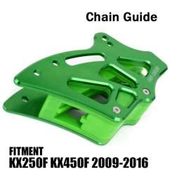 new cnc rear chain guide guard green for kawasaki kx250f kx450f 2009 2016 kxf250 [ 1000 x 1000 Pixel ]