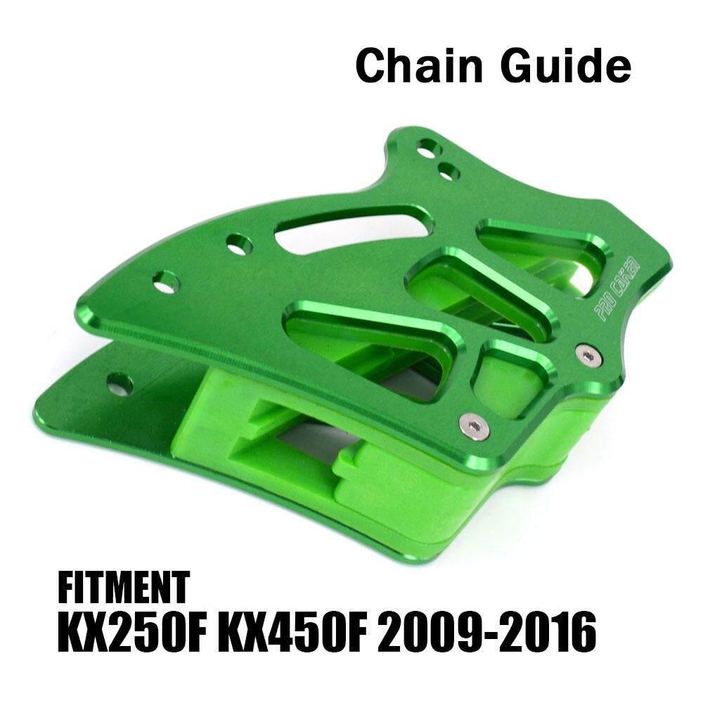 hight resolution of new cnc rear chain guide guard green for kawasaki kx250f kx450f 2009 2016 kxf250