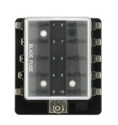 10 way blade fuse box holder with plastic cover for car boat marine 12v 24v  [ 1000 x 1000 Pixel ]