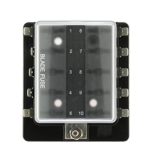 small resolution of 10 way blade fuse box holder with plastic cover for car boat marine 12v 24v