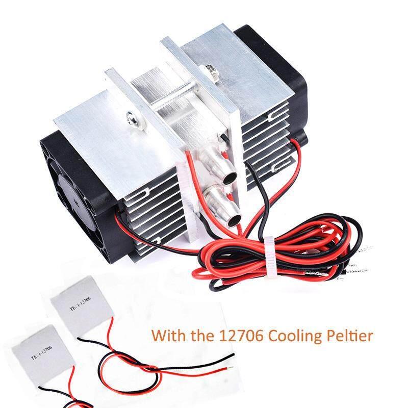 Lemari Es Semikonduktor Chip Kit DIY Kulkas Kecil AC Air Cooled 12 V Chiller dengan 2 Pcs 12706 Peltier