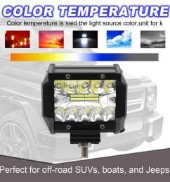 dongxi car headlight 320w 2pcs 4 inch led work light bar flood spot beam offroad suv [ 1000 x 1000 Pixel ]
