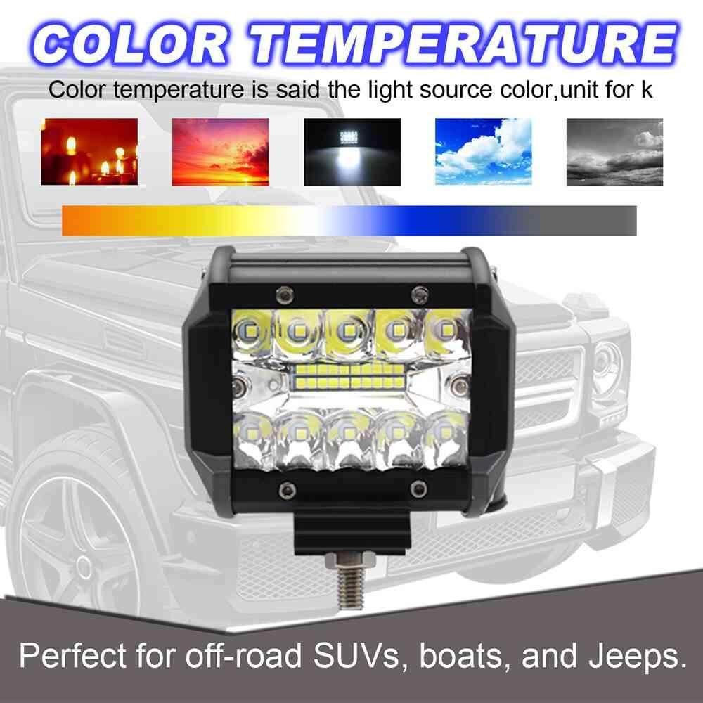 medium resolution of dongxi car headlight 320w 2pcs 4 inch led work light bar flood spot beam offroad suv