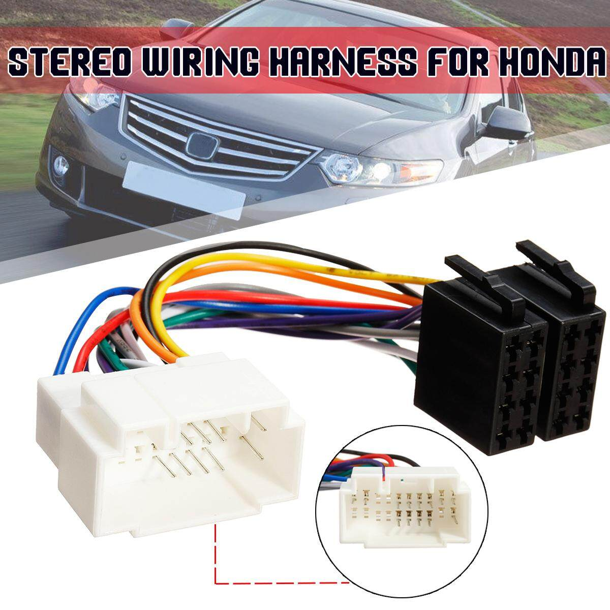 hight resolution of fit honda iso wiring harness stereo radio lead wire loom connector adaptor