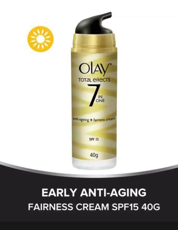 Harga Olay Total Effect Anti Ageing Fairness Cream : harga, total, effect, ageing, fairness, cream, Total, Effects, 7-In-One, Anti-Ageing, Fairness, Cream, SPF15, Lazada