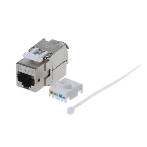 small resolution of 1pc rj45 keystone cat6 cat6a shielded ftp zinc alloy module keystone jack network connector adapter lazada ph