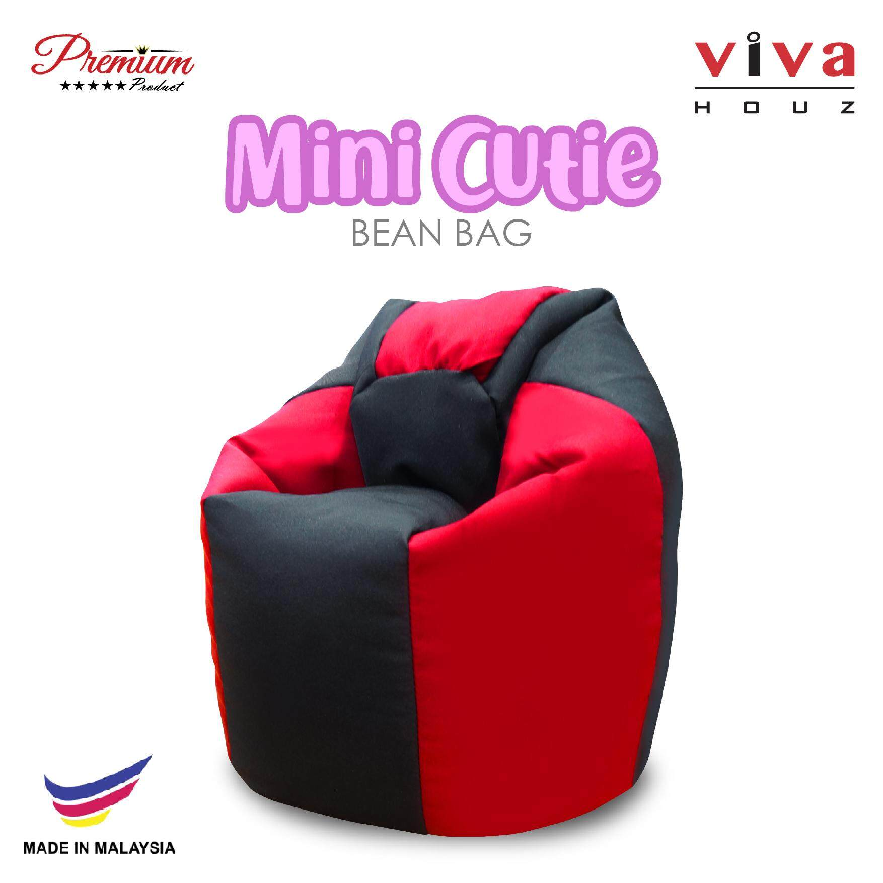 Mini Bean Bag Chair Viva Houz Cutie Mini Bean Bag Pouffe Sofa Chair Red Black Made In Malaysia