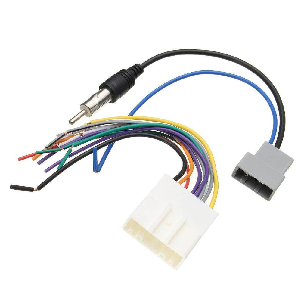 medium resolution of product details of 16cm car dvd install stereo wire harness cable plugs antenna adapter for nissan
