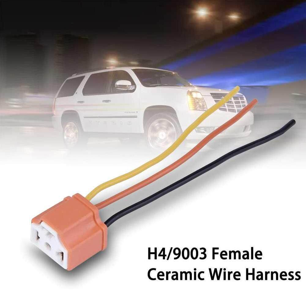 hight resolution of dsan 2 pcs h4 9003 hb2 3 pin car female ceramic headlight extension connector