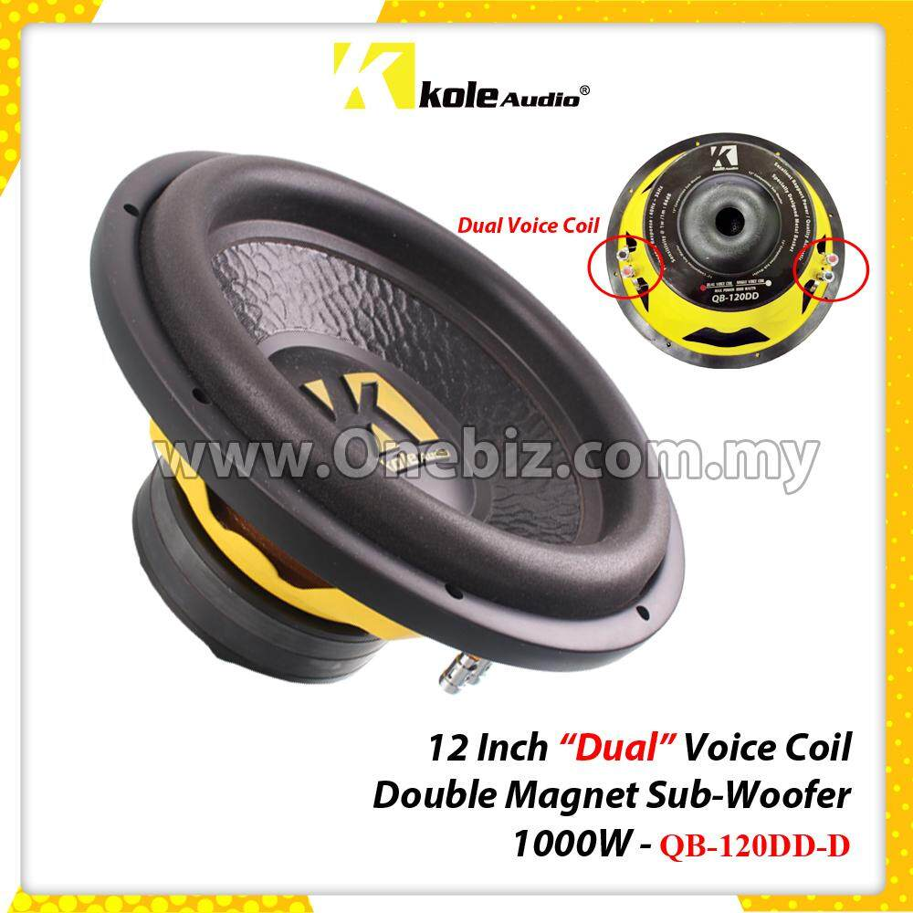 hight resolution of kole audio 12 inch dual voice coil double magnet sub woofer 1000w