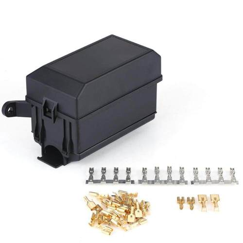 small resolution of nihua 6 way fuse relay holder box socket for auto car suv off