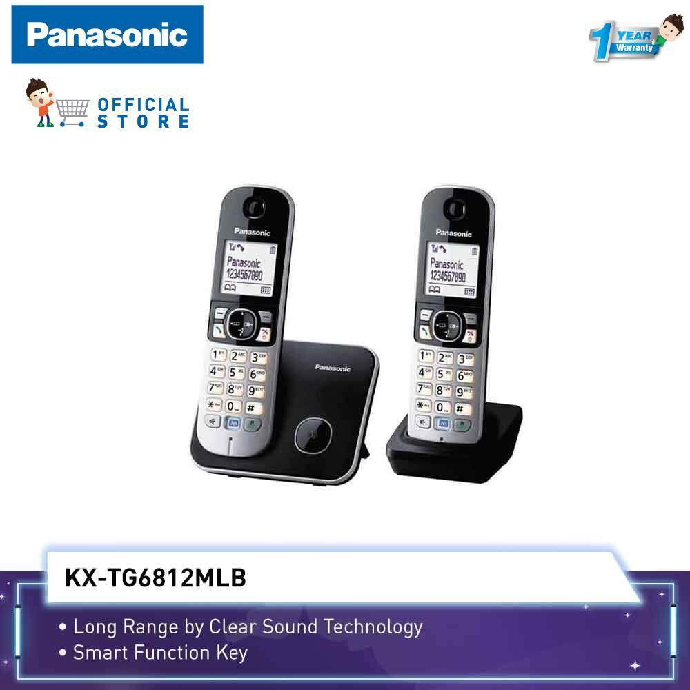hight resolution of panasonic cordless phone kx tg6812 with 2 handset