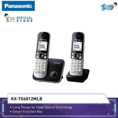 small resolution of panasonic cordless phone kx tg6812 with 2 handset