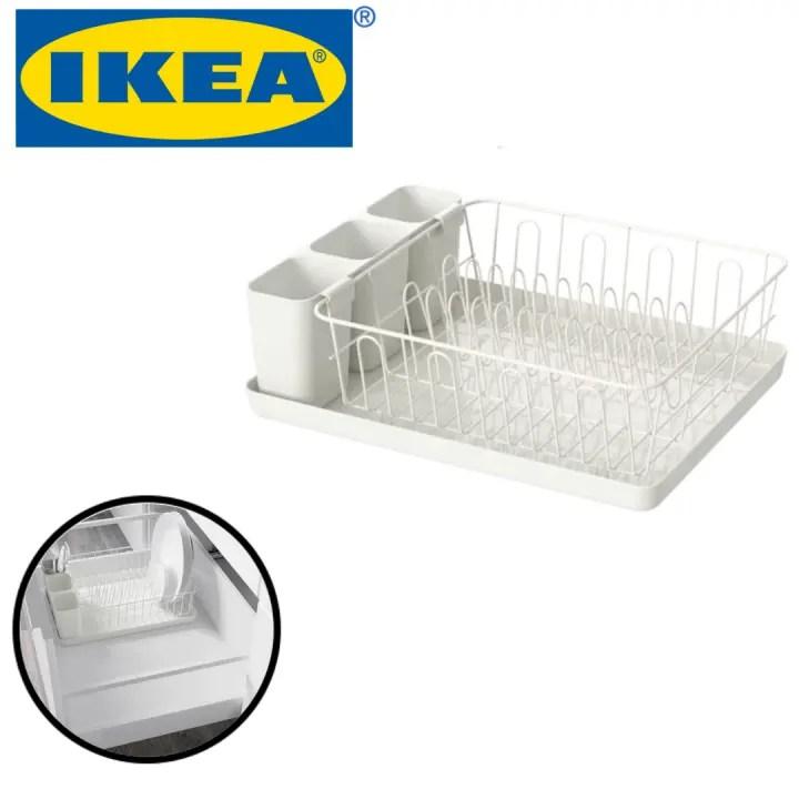 ikea variera 1 layer multipurpose dish drainer kitchen storage rack rak pinggan sink rack dish rack dish drainer dishwasher dish drying rack