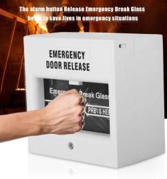emergency door release fire alarm security glass break alarm button white [ 1001 x 1001 Pixel ]