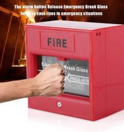 emergency exit fire alarm button release security glass break alarm switch [ 1001 x 1001 Pixel ]