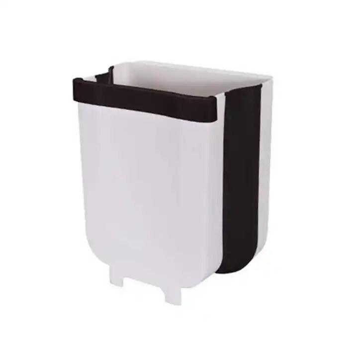 Trash Can Portable Trash Bin Garbage Can For Hanging Over Kitchen Drawer Cabinet Door Bedroom Dorm Room Car Waste Bin White Lazada