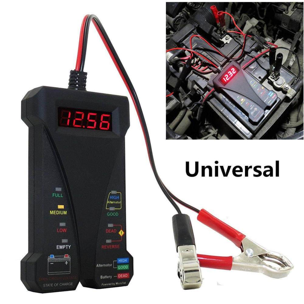 medium resolution of 12v lcd display digital battery tester voltmeter and charging system analyzer