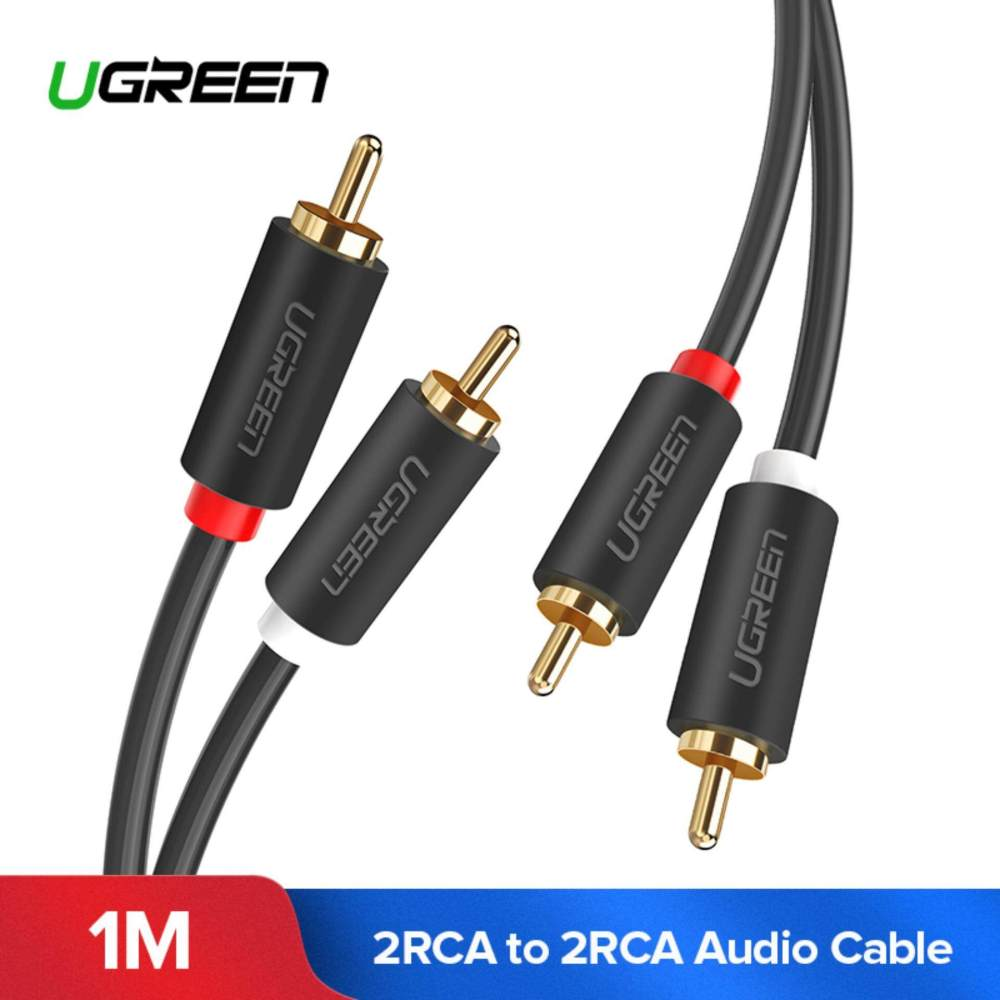 medium resolution of ugreen 1meter 2rca to 2 rca male to male audio cable gold plated rca audio
