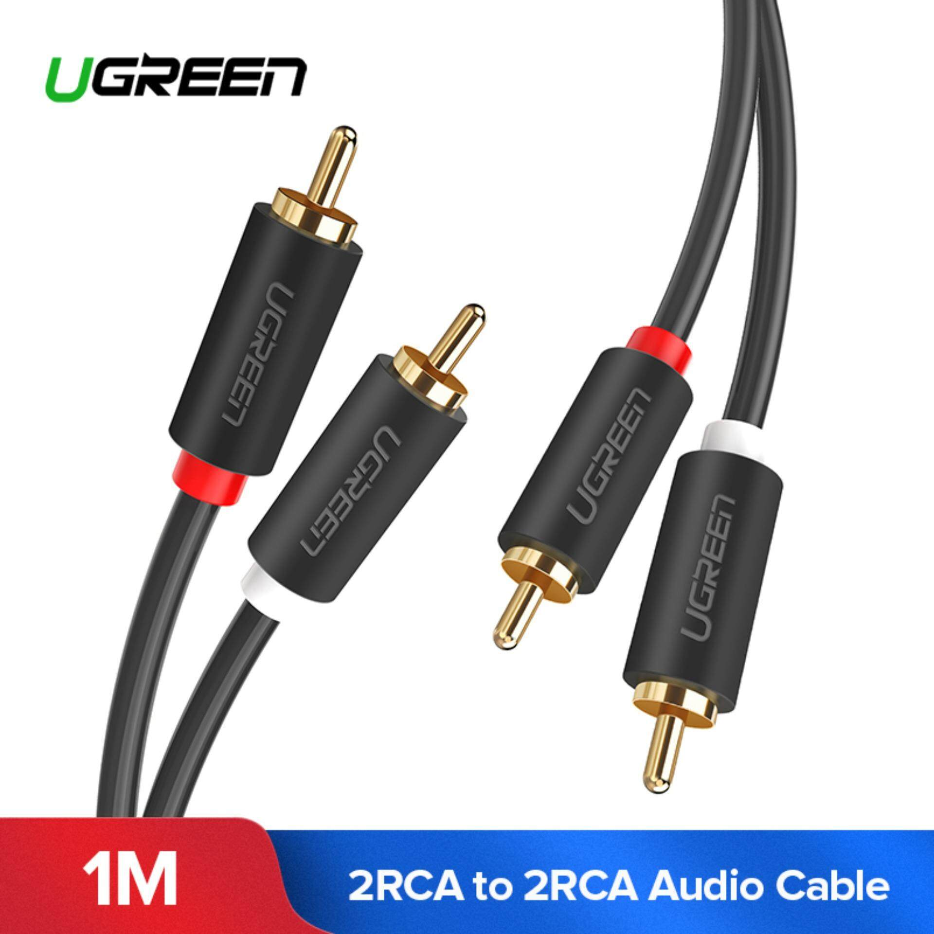 hight resolution of ugreen 1meter 2rca to 2 rca male to male audio cable gold plated rca audio