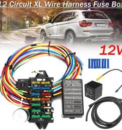 free shipping flash deal 12 circuit wiring harness 14 fuse 12v muscle car [ 1200 x 1200 Pixel ]