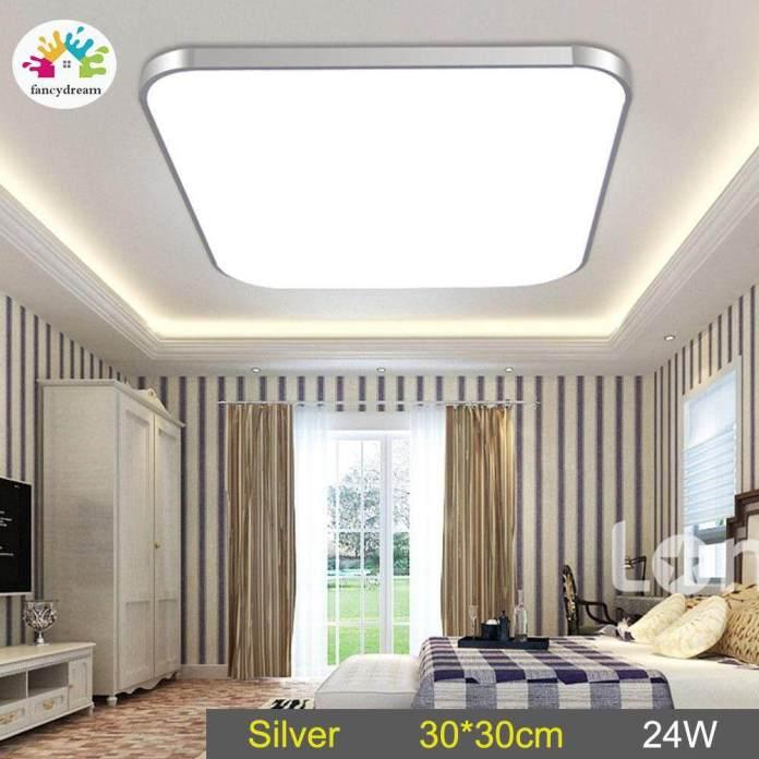 Fancydream LED Lampu Bawah Plafon Lampu 24 W Square Hemat Energi untuk Kamar Tidur Ruang Keluarga