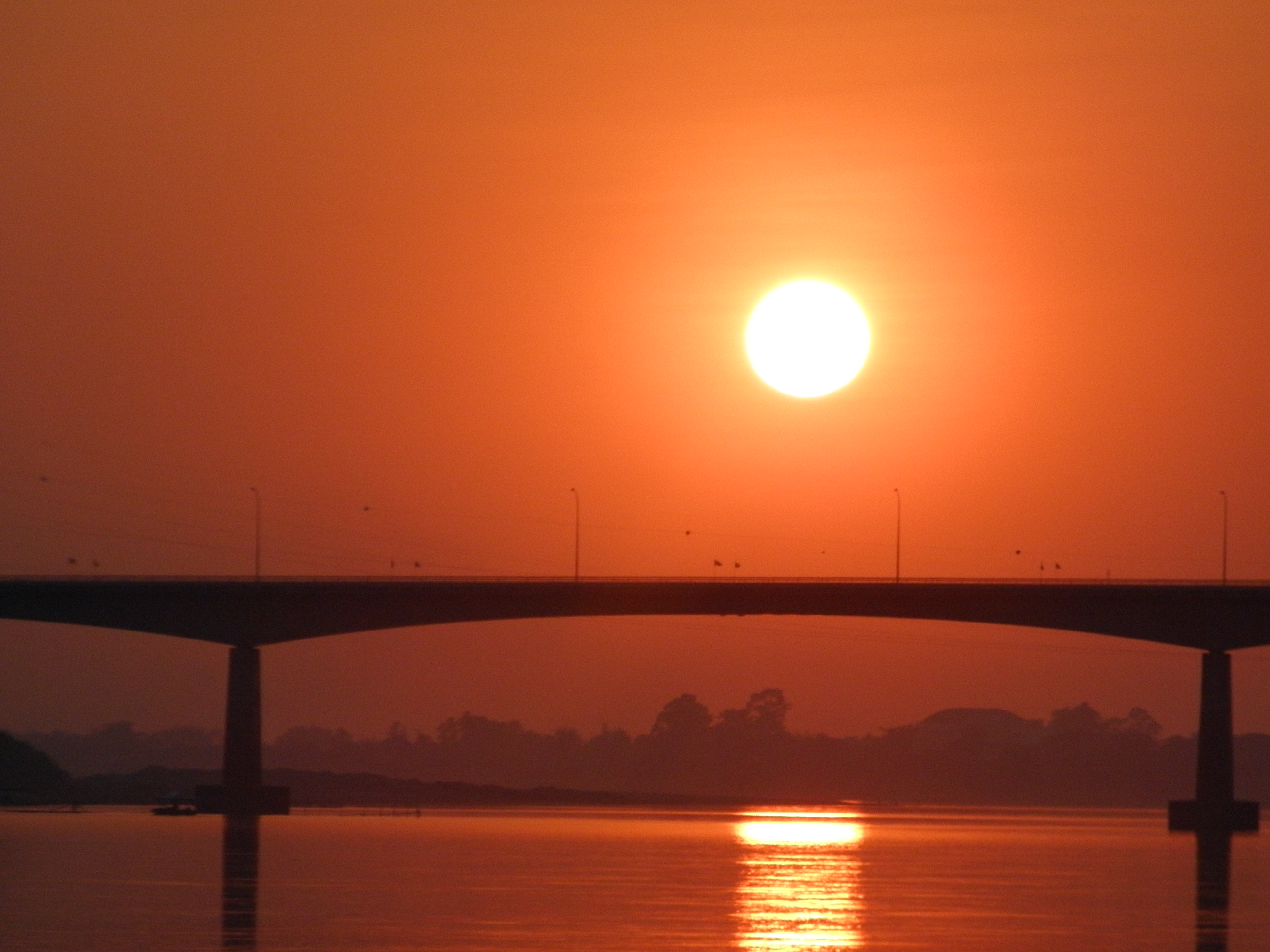 sunset in nong khai, thailand @ mekong river