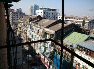 view from chan myaye guesthouse yangon
