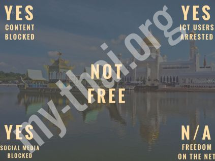Brunei Darussalam - Say something wrong and go straight to jail, do not pass go...