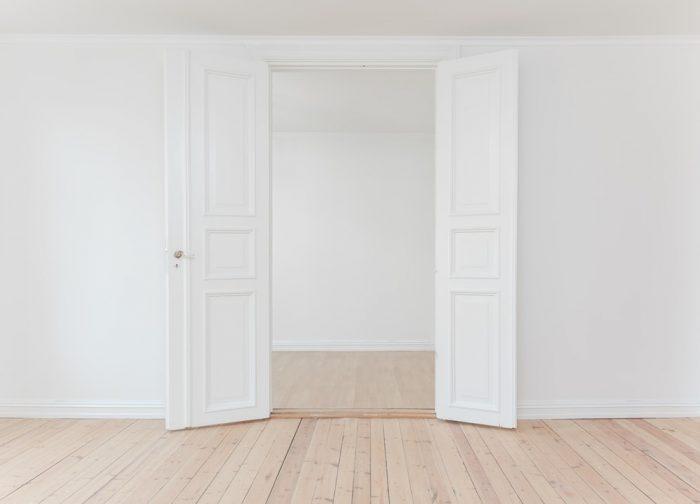 white-door-opens