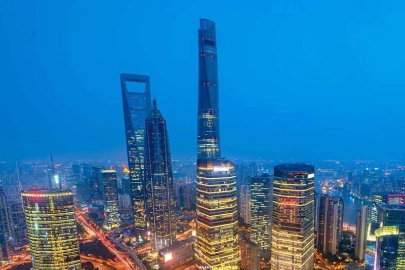 上海タワーの夜景