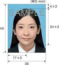 パスポート申請用の顔写真