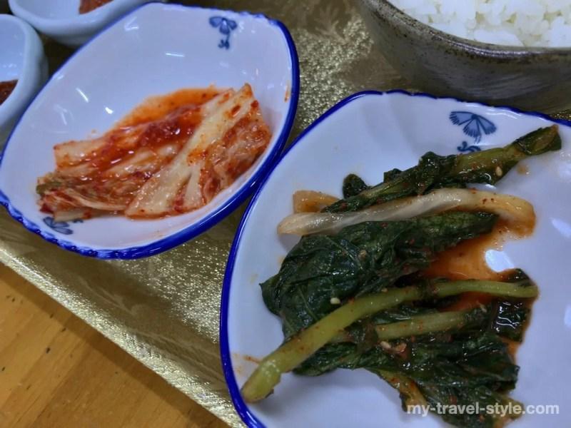 ソムジンガンのシジミスープ定食