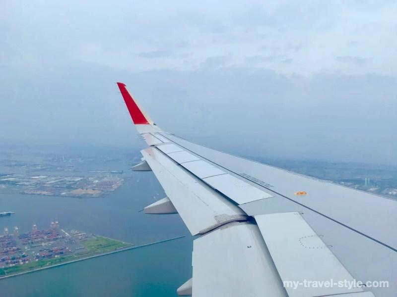 エアアジア(DJ 804)にて桃園国際空港から中部国際空港まで移動