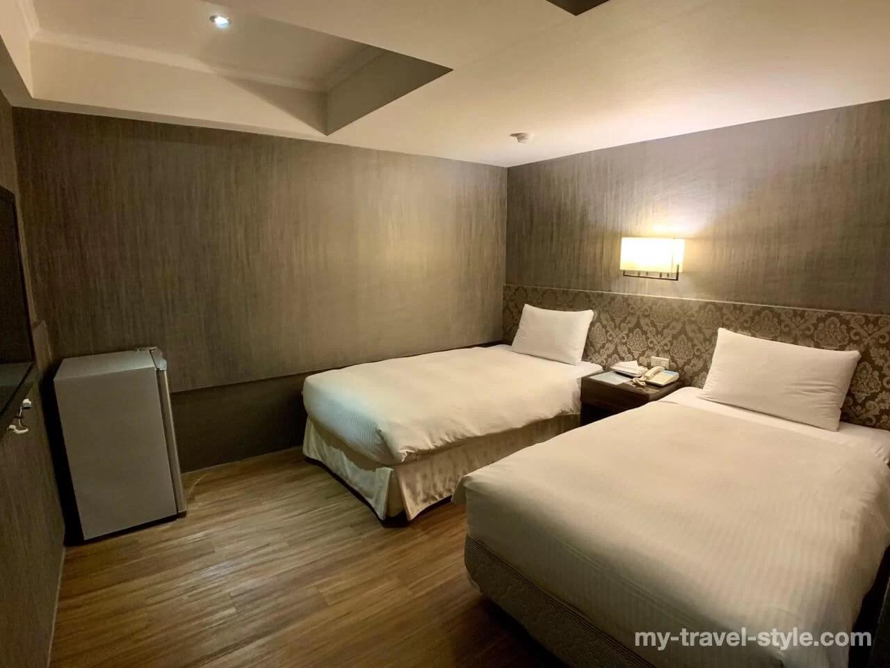 ECFAホテル台南(ECFA Hotel Taina)のベッドルーム