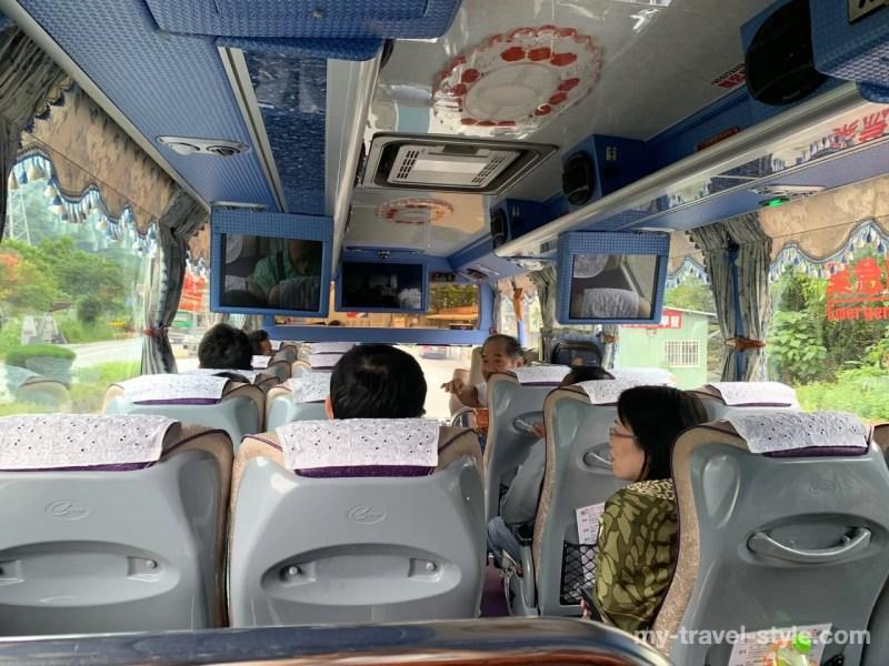 KKdayのツアーバスの内装