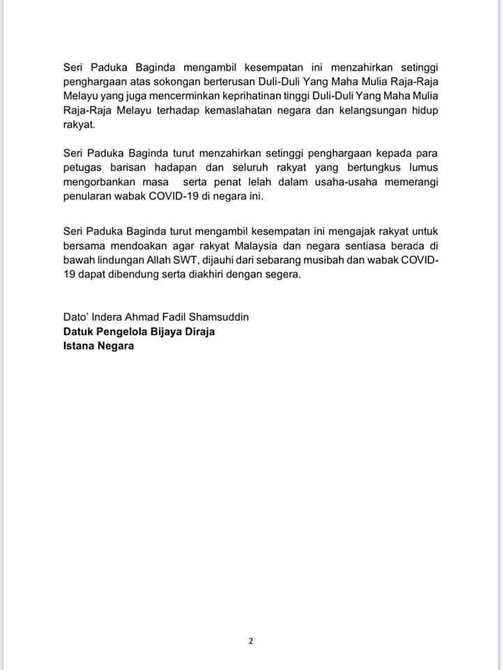 Segerakan Sidang Parlimen Titah KYDMM AGONG